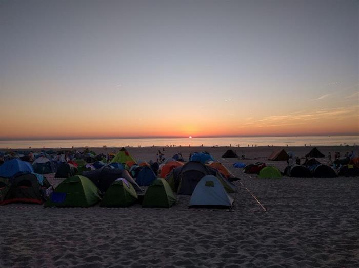 Camping at the Hague